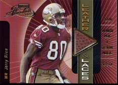 2000 Absolute Leather and Laces #JR80A Jerry Rice/350