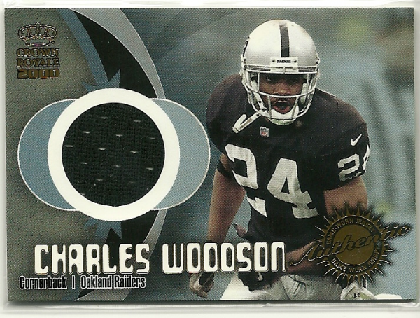 2000 Crown Royale Game Worn Jerseys #6 Charles Woodson