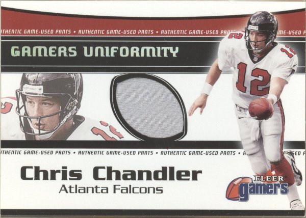 2000 Fleer Gamers Uniformity #8 Chris Chandler Pants