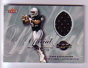 2000 Fleer Tradition Feel the Game #7 Tim Brown