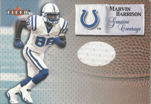 2000 Fleer Tradition Genuine Coverage #19 Marvin Harrison