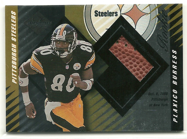 2000 Leaf Limited #419 Plaxico Burress J/FB/250 RC