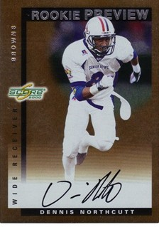 2000 Score Rookie Preview Autographs #SR28 Dennis Northcutt