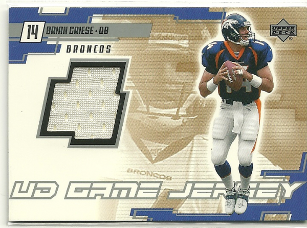 2000 Upper Deck Game Jersey #BG Brian Griese
