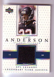 2000 Upper Deck Legends Legendary Jerseys #LJJA Jamal Anderson