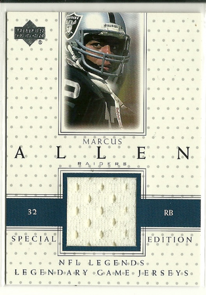 2000 Upper Deck Legends Legendary Jerseys #LJMA2 Marcus Allen SE