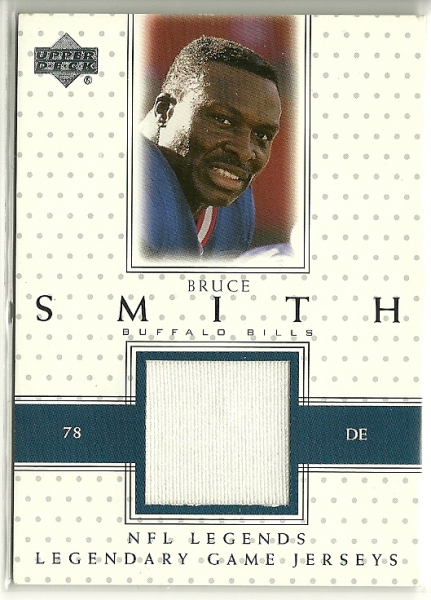 2000 Upper Deck Legends Legendary Jerseys #LJSM Bruce Smith