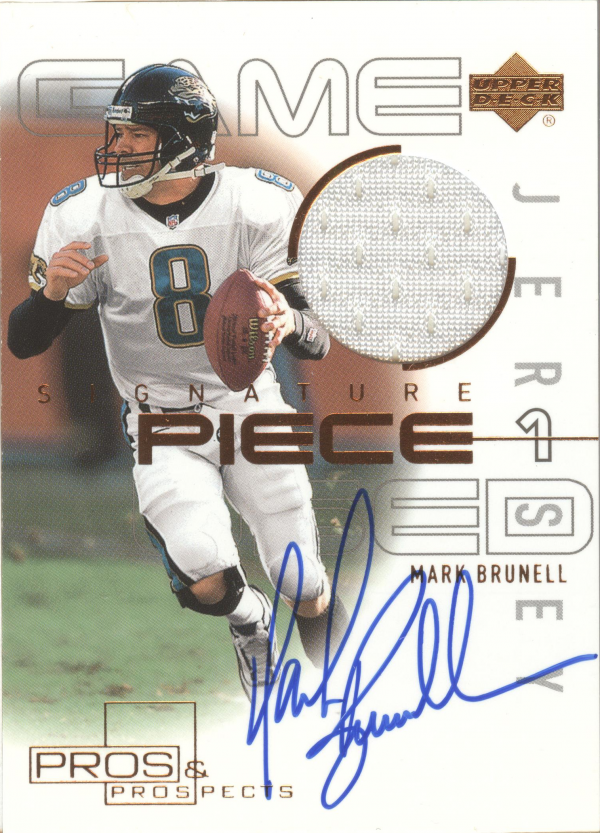 2000 Upper Deck Pros and Prospects Signature Piece 1 #SPMB Mark Brunell