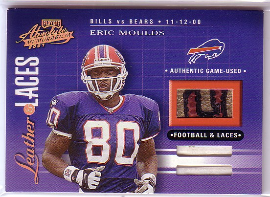 2001 Absolute Memorabilia Leather and Laces Combos #LL38 Eric Moulds