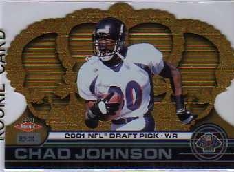 2001 Crown Royale #187 Chad Johnson/1000 RC