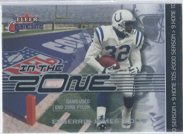 2001 Fleer Game Time In the Zone #EJ Edgerrin James