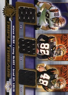 2001 Pacific Impressions Triple Threads #11 Steve Bush/Tony McGee/Brad St. Louis
