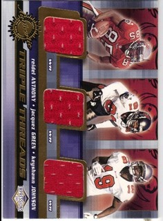 2001 Pacific Impressions Triple Threads #35 Reidel Anthony /Jacquez Green/Keyshawn Johnson