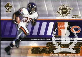 2001 Private Stock Game Worn Gear Patch #24 Marlon Barnes/350