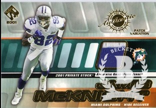 2001 Private Stock Game Worn Gear Patch #86 James McKnight/250