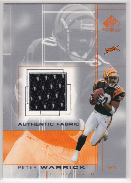 2001 SP Game Used Edition Authentic Fabric #PW Peter Warrick