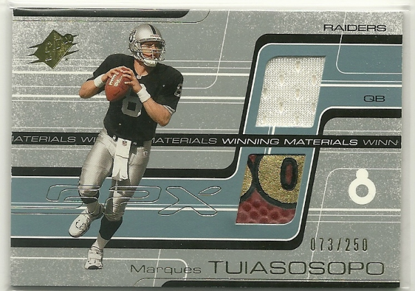 2001 SPx Winning Materials #WMMT2 Marques Tuiasosopo/250