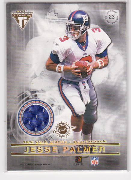 2001 Titanium Double Sided Jerseys #23 Jonathan Carter/Jesse Palmer