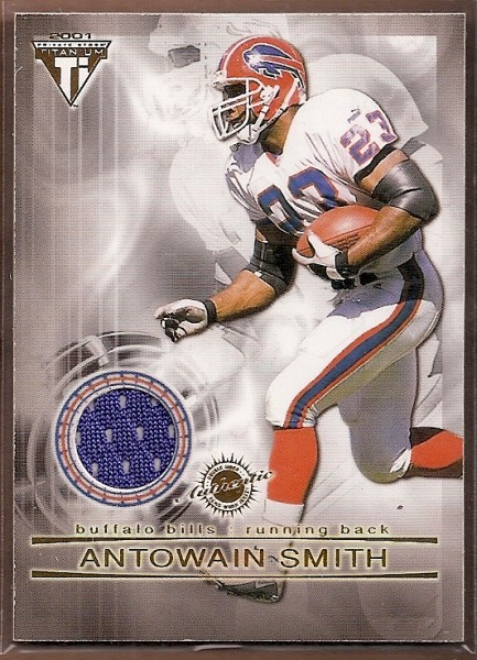 2001 Titanium Double Sided Jerseys #52 Antowain Smith/Sammy Morris