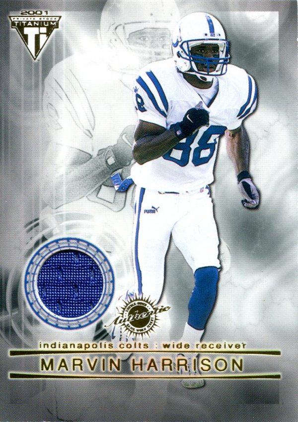 2001 Titanium Double Sided Jerseys #91 Marvin Harrison/Amani Toomer