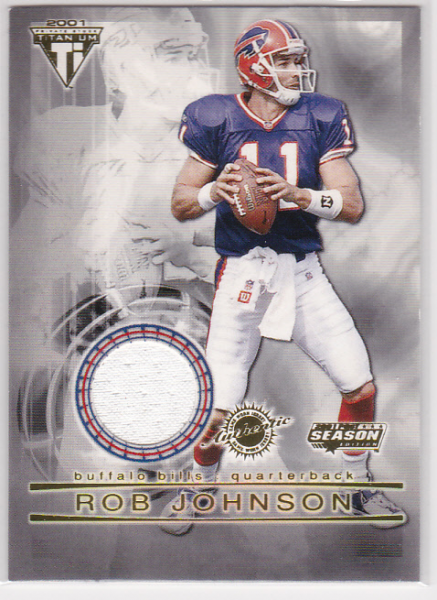 2001 Titanium Post Season Jerseys #14 Rob Johnson