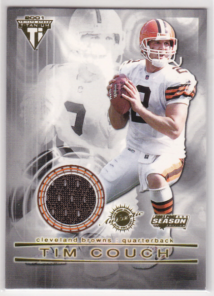 2001 Titanium Post Season Jerseys #32 Tim Couch