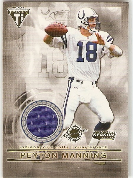 2001 Titanium Post Season Jerseys #49 Peyton Manning