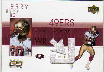 2001 UD Game Gear Jerseys #JRJ Jerry Rice