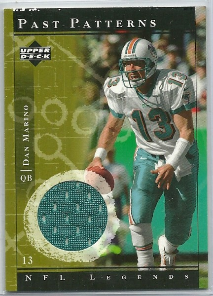 2001 Upper Deck Legends Past Patterns Jerseys #PPDM Dan Marino