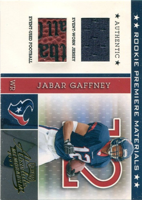 2002 Absolute Memorabilia #211 Jabar Gaffney RPM RC