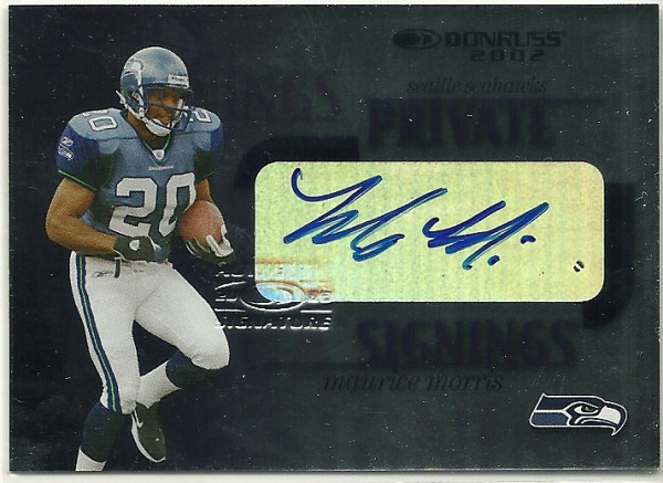 2002 Donruss Private Signings #PS34 Maurice Morris