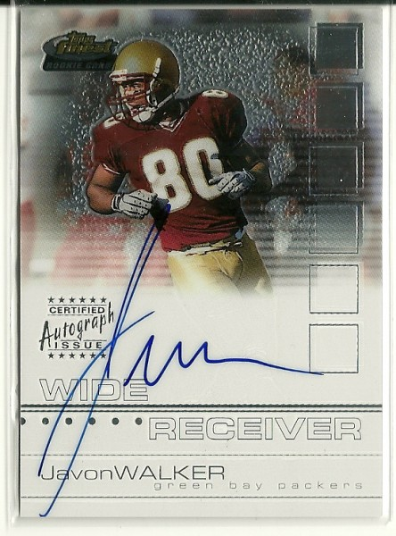 2002 Finest #124 Javon Walker AU RC