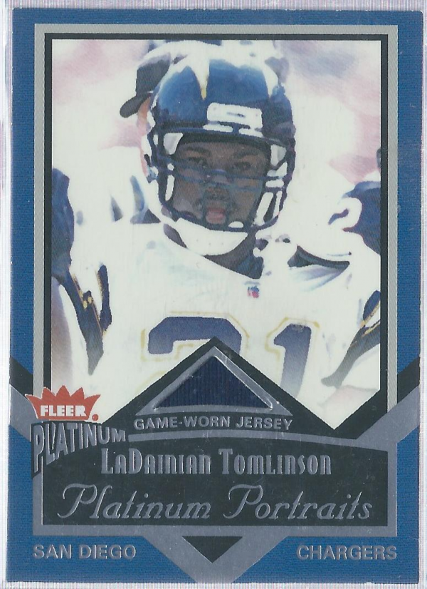 2002 Fleer Platinum Portraits Memorabilia #PPLT LaDainian Tomlinson