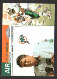 2002 Fleer Showcase Air to the Throne #AT18 Dan Marino front image