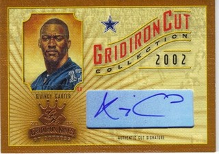 2002 Gridiron Kings Gridiron Cut Collection #GC29 Quincy Carter AU/400