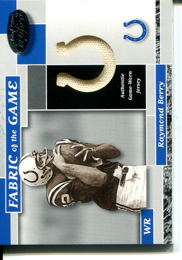 2002 Leaf Certified Fabric of the Game Team Logos #25 Raymond Berry