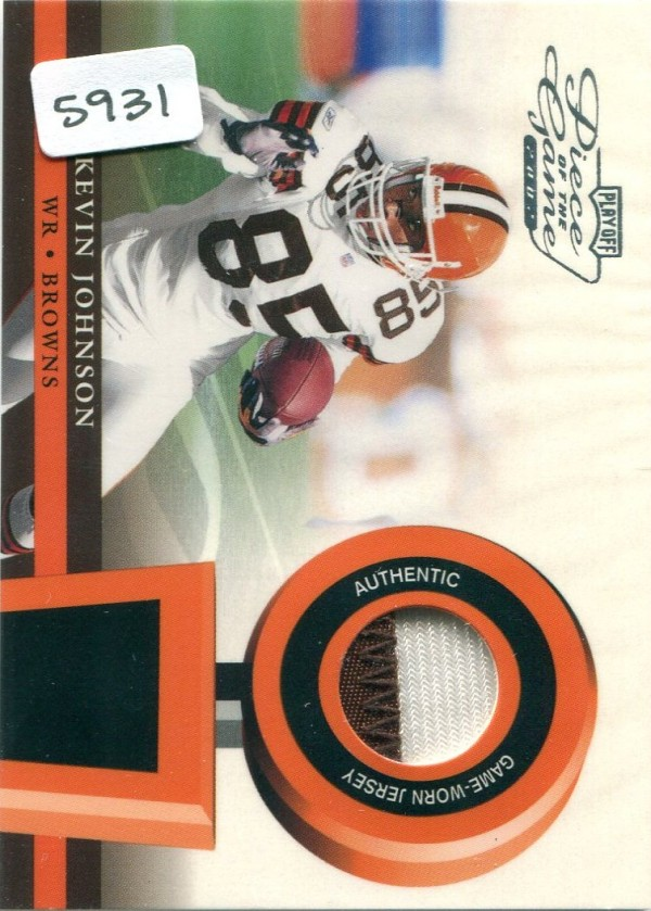 2002 Playoff Piece of the Game Materials 1st Down #33 Kevin Johnson