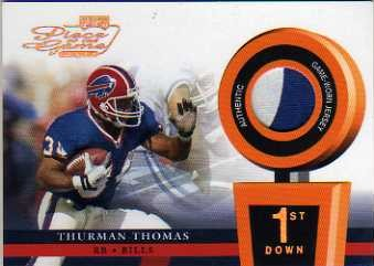 2002 Playoff Piece of the Game Materials 1st Down #51 Thurman Thomas