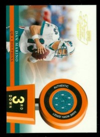 2002 Playoff Piece of the Game Materials 3rd Down #12 Dan Marino front image