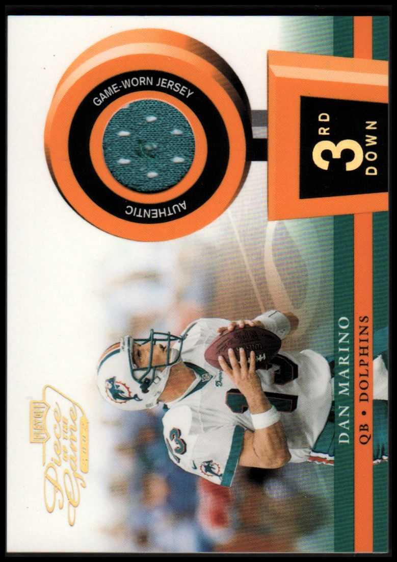 2002 Playoff Piece of the Game Materials 3rd Down #12 Dan Marino