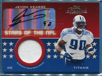 2002 Playoff Prestige Stars of the NFL Autographs #SN16 Jevon Kearse/90