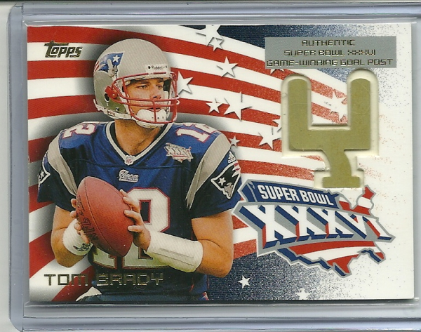 2002 Topps Super Bowl Goal Posts #SBG1 Tom Brady