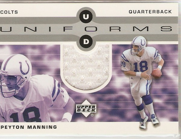2002 Upper Deck Uniforms #UDUPM Peyton Manning