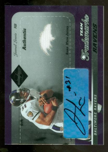 2003 Leaf Limited Team Trademarks Autographs #LT21 Jamal Lewis