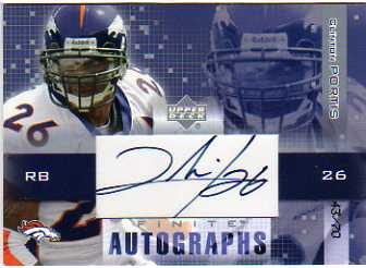 2003 Upper Deck Finite Autographs #CP Clinton Portis/70