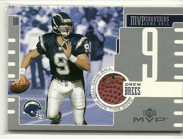 2003 Upper Deck MVP Souvenirs #GBDB Drew Brees
