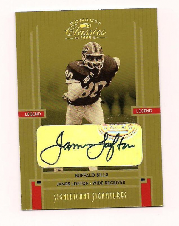 2003 Donruss Classics Significant Signatures #123 James Lofton/100