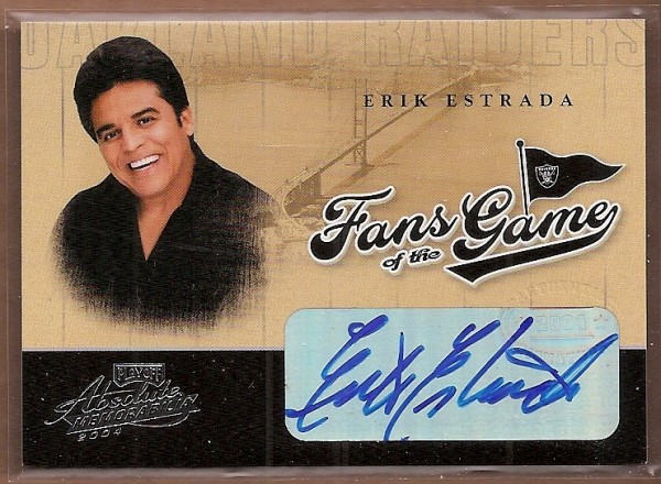 2004 Absolute Memorabilia Fans of the Game Autographs #FG1B Erik Estrada