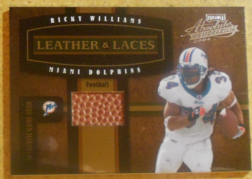 2004 Absolute Memorabilia Leather and Laces Combos #LL18 Ricky Williams