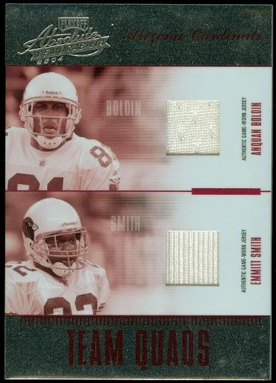 2004 Absolute Memorabilia Team Quads Material #TQ1 Bldn/Emmitt/McCwn/Shp